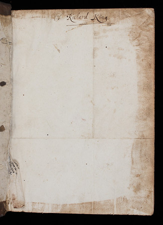 Inscription of Richard King, 17th century