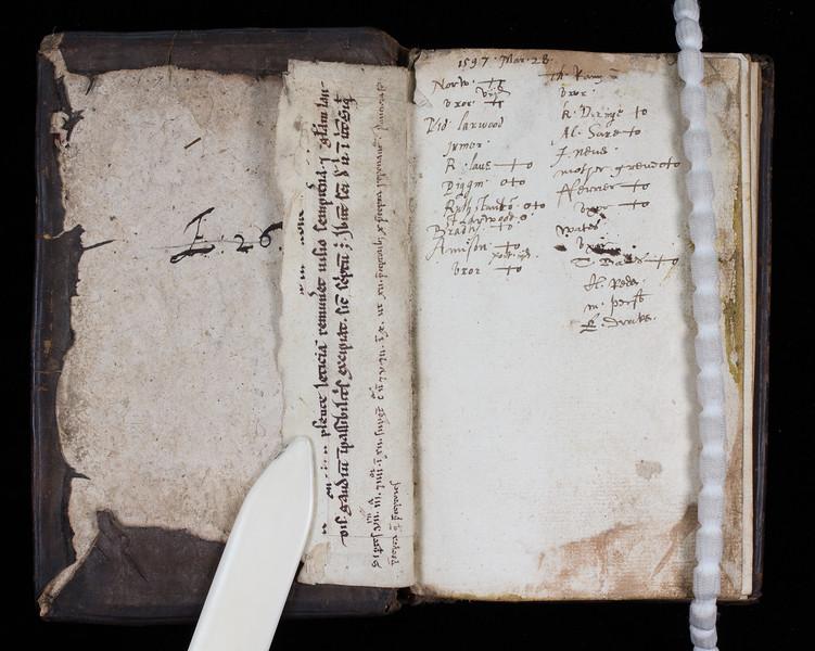 Manuscript waste, 13th century