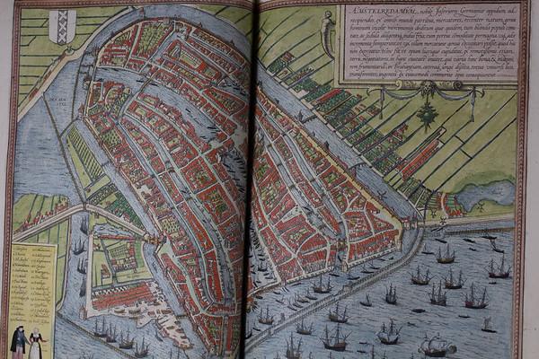 Map of Amstelredamum (Amsterdam), 16th century