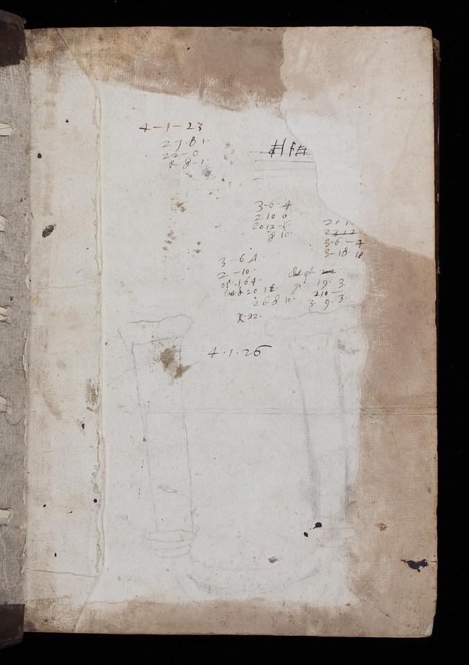 Calculations, 17th century.