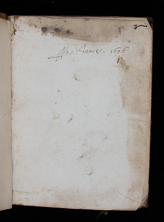 Inscription of Henry James, 17th century