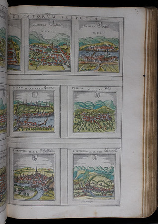Maps, including Basilea (Basel), 16th century