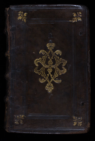 Calf gilt-tooled binding, 16th century