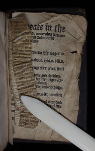 Printed waste from a English theological work, 16th century