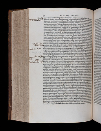 Annotations and drawing by Thomas Smith, 16th century