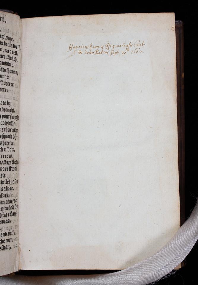 Ownership inscription, 17th century