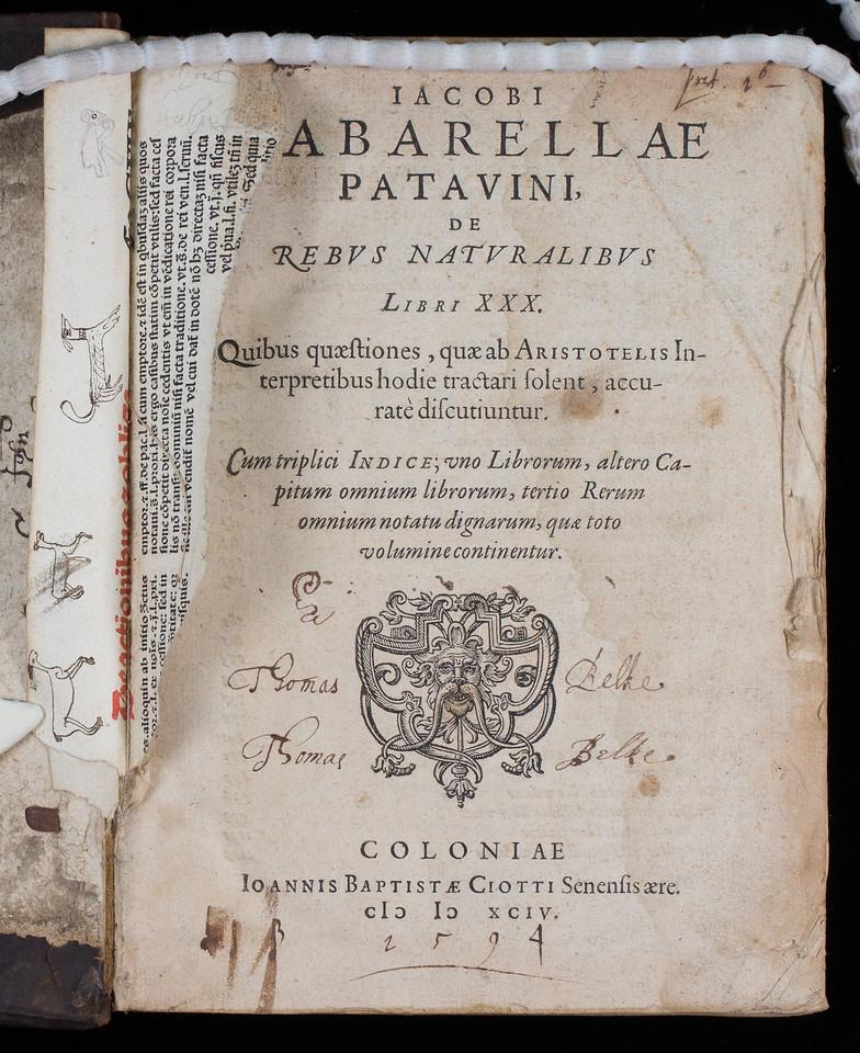 Inscription of Thomas Belke, 17th century