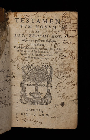 Annotations and pen trials, 16th/17th century