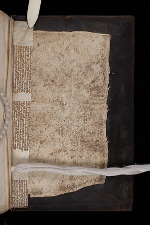 Manuscript waste, 14th century