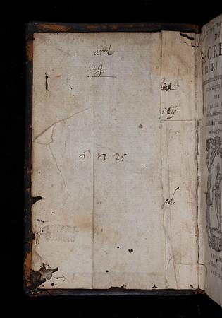 Inscriptions, 17th century (?)