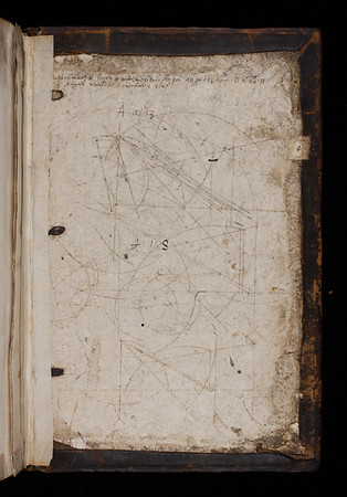 Inscription and geometrical figures, 17th century
