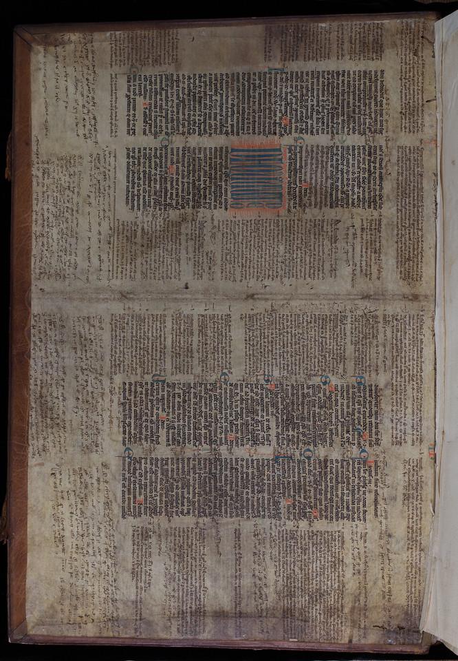 Illuminated manuscript waste, mid-13th century