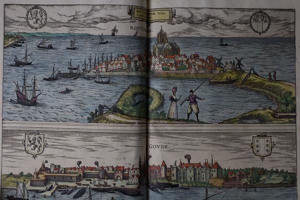 Map of Rotterdam, 16th century