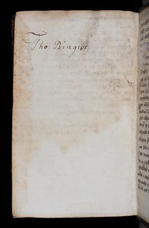 Inscription of Thomas Byng, 16th century