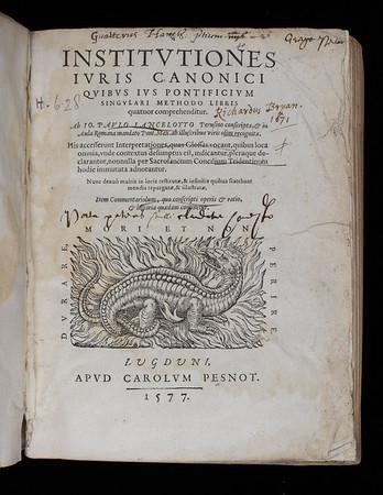 Donor inscription of Richard Bryan, 17th century
