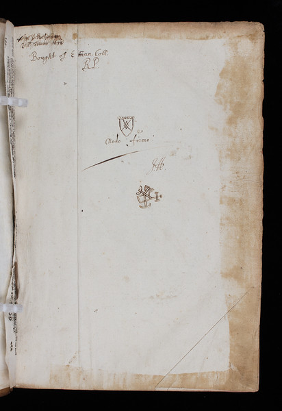 Ownership inscription, 17th century