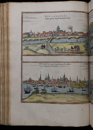 Map of Wittenburga (Wittenberg), 16th century