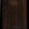 Blind-stamped calf binding, 16th century