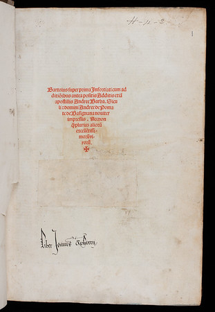 Inscription of John Apharry, 16th century
