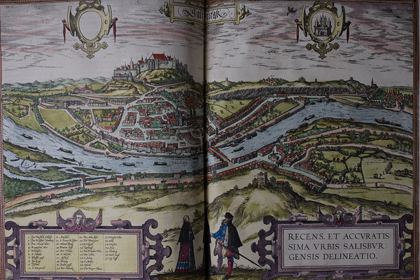 Map of Saltzburgk, 16th century