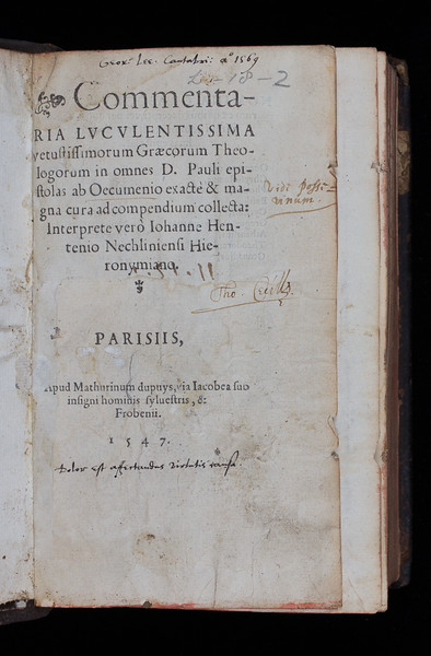 Ownership inscriptions, 16th/17th centuries