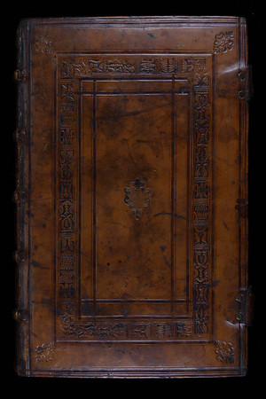 English (possibly Oxford) calf binding, 16th century