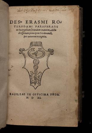 Title page of Paraphrasis in Evangelium secundum