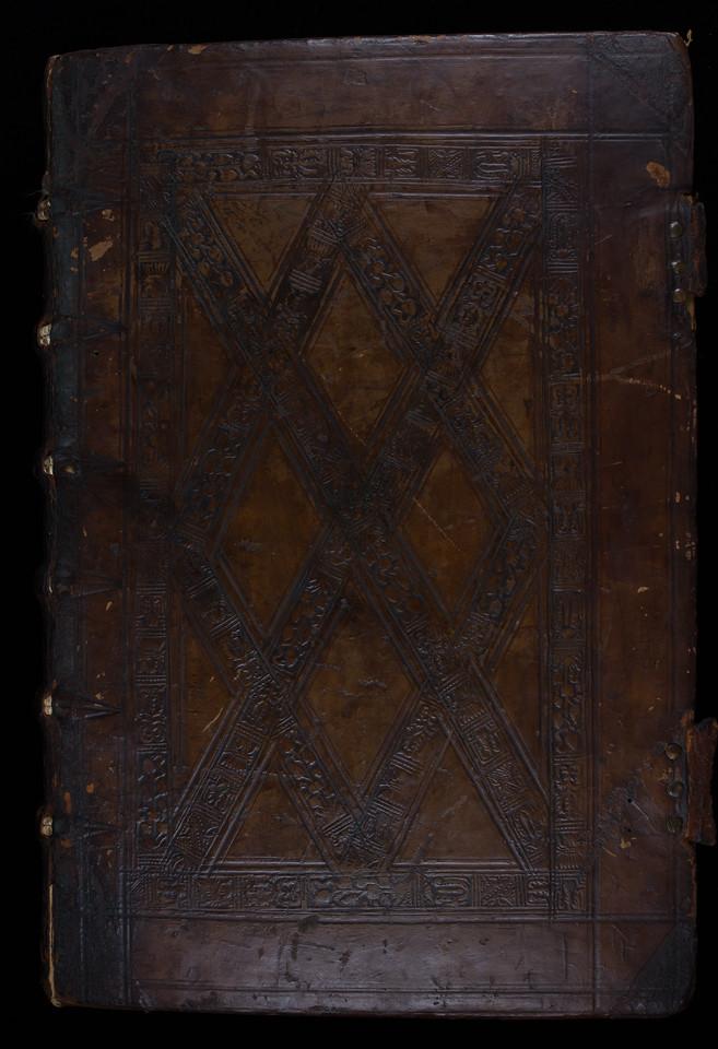 English blind-stamped binding, 16th century