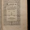 Title page of De inventione dialectica libri tres