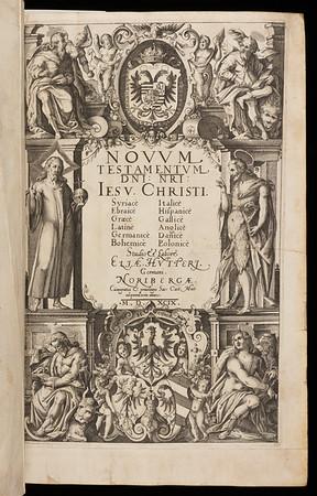 Title page of Novum Testamentum Domini Nostri Jesu Christi.