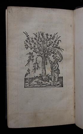 "Woodcut printer's device, verso of final leaf. <br><br> <b>Title:</b><i> Nouum Testamentum </i> (Paris, 1546)<br> <b>Shelfmark:</b> K.17.39  <a href=""http://idiscover.lib.cam.ac.uk/primo-explore/fulldisplay?docid=44CAM_ALMA21423018350003606&amp;context=L&amp;vid=44CAM_PROD&amp;search_scope=SCOP_QUE&amp;tab=cam_lib_coll&amp;lang=en_US%20""> (catalogue record)</a>"