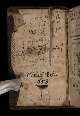 Inscription of Micheal Belke, 17th century