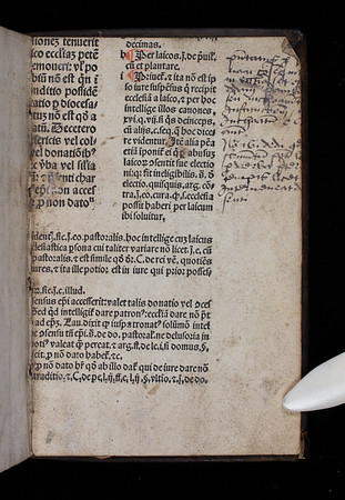 Printed waste with annotations, 16th century