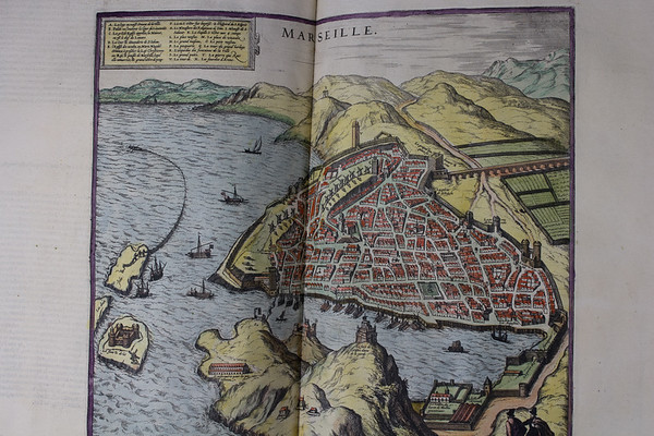 Map of Marseille, 16th century