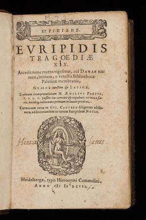 Inscription of Henry James, 17th century