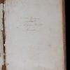 Ownership inscription, 18th century
