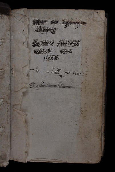 Ownership inscription of Thomas Whall, 16th century