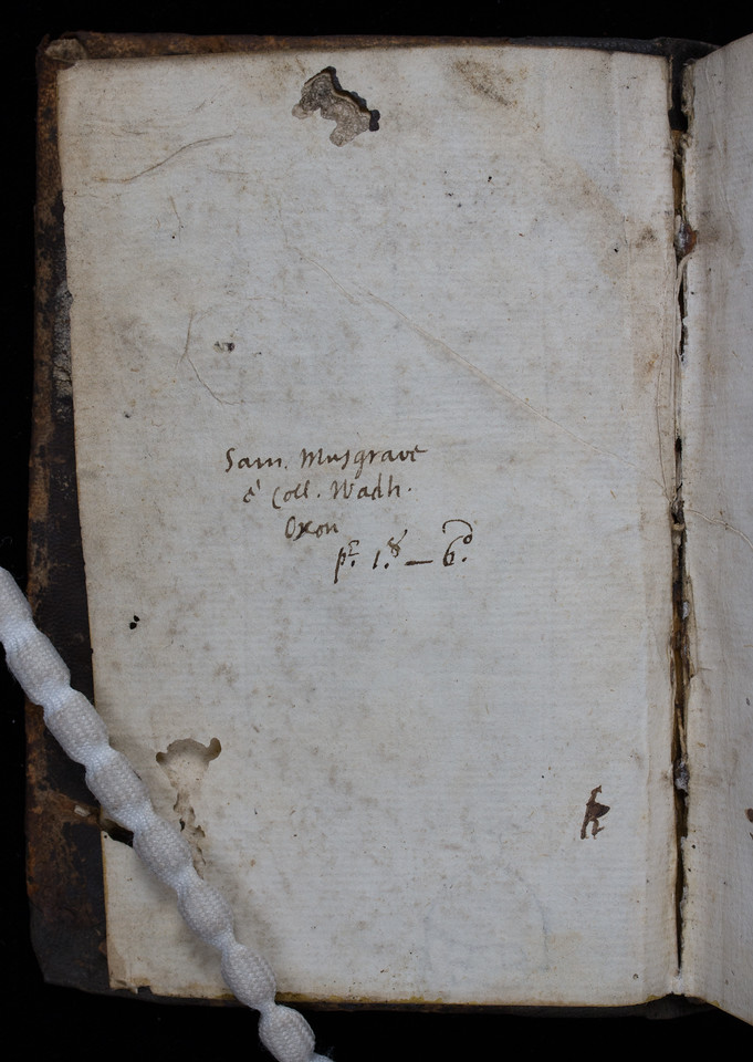 Ownership inscription of Samuel Musgrave, 17th century