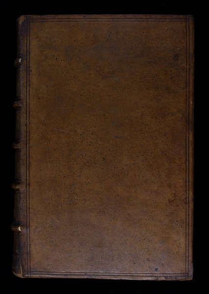 Sprinkled calf binding, early 17th century