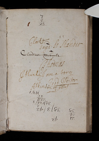 Inscriptions, 16th-17th centuries