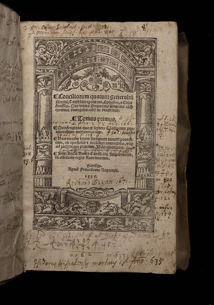 Inscription of Richard Bryan, 17th century