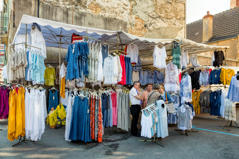 Clothing Stall, Avallon Market