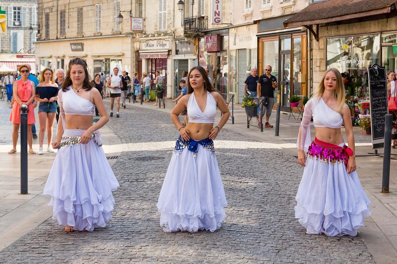 Market Day Street Dancers, Avallon France