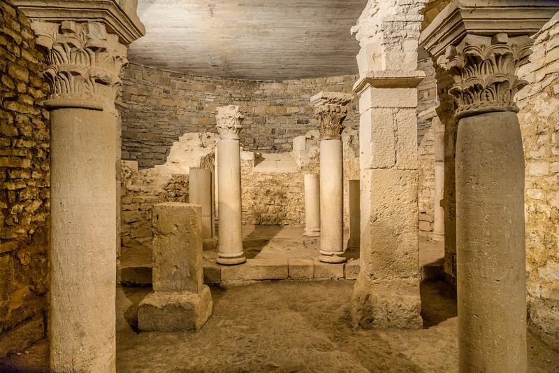 Crypt, Ancient Abbey at Flavigny