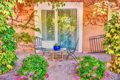 A pretty garden setting.