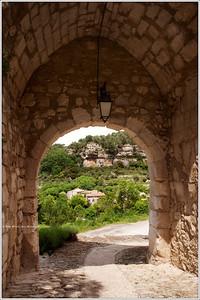 Le Beaucet entry gate.