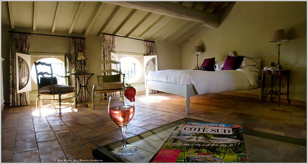 Hotel Crillon Le Brave... fantastic afternoon light, a glass of wine and fresh strawberries.