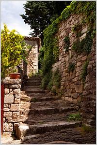 Stone steps into Le Beaucet