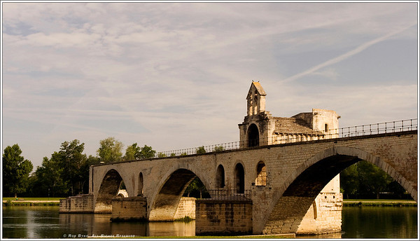"The ""Bridge of Avignon"" or ""Pont d'Avignon"", in Provence."
