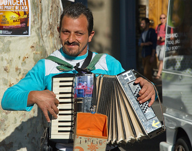 I never remember to get these guys names.  He was a very talented accordion player.